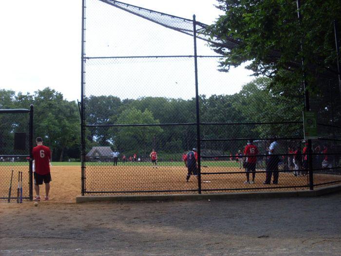 Honkbal in sportpark amerika
